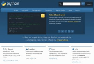 pythonのトップページ